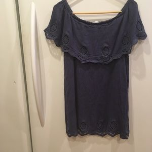 Dainty Hooligan off Shoulder Mini Dress Sz S Blue